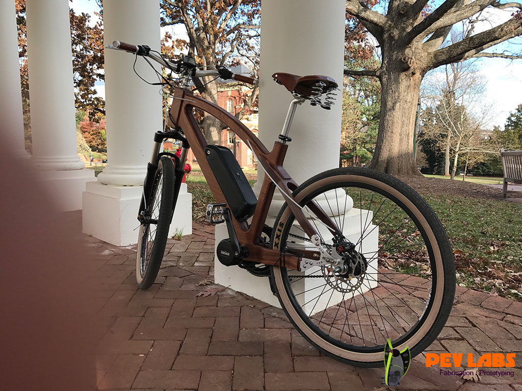 Wooden E-Bike Prototype Test Ride