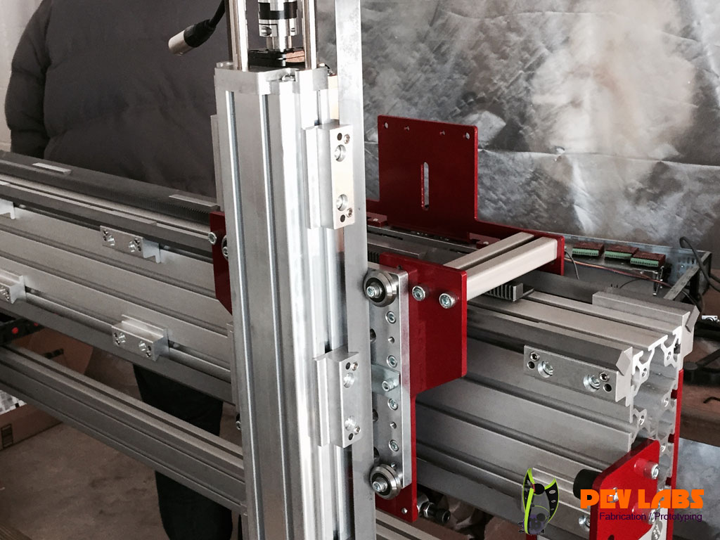 CNC Extruded Aluminum Z Axis Installation