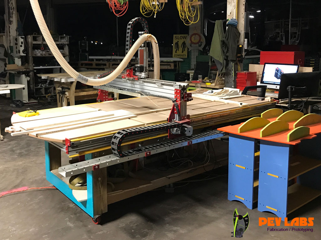 CNC Machine Build in Use