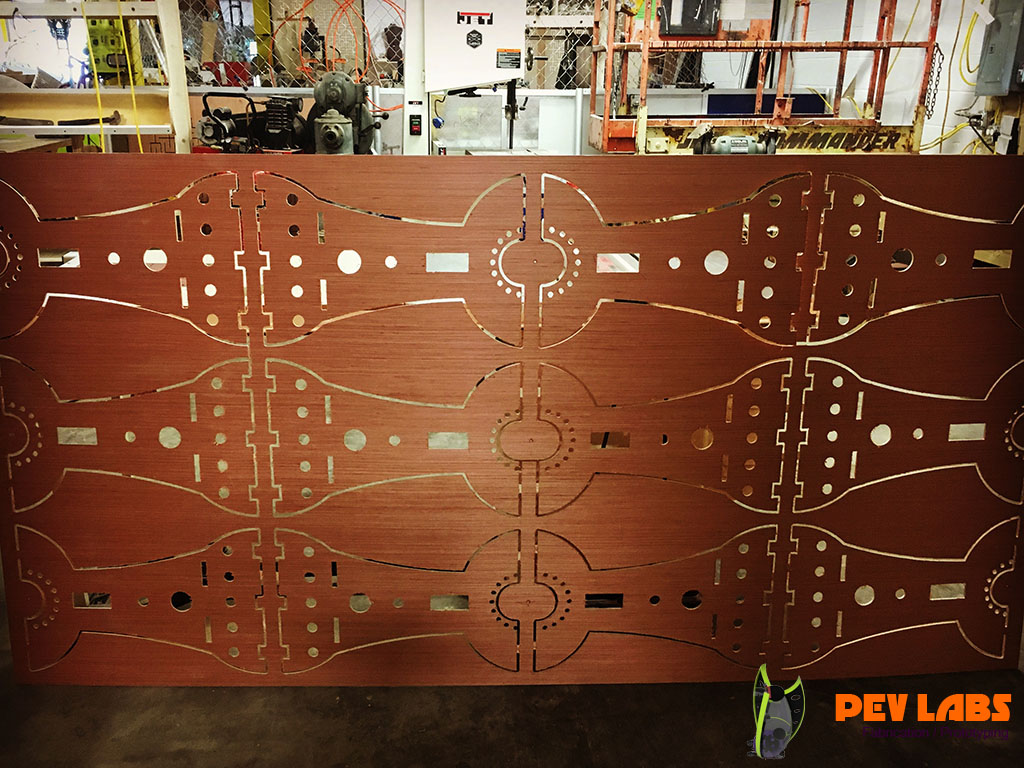 Luan Plywood Milled with CNC