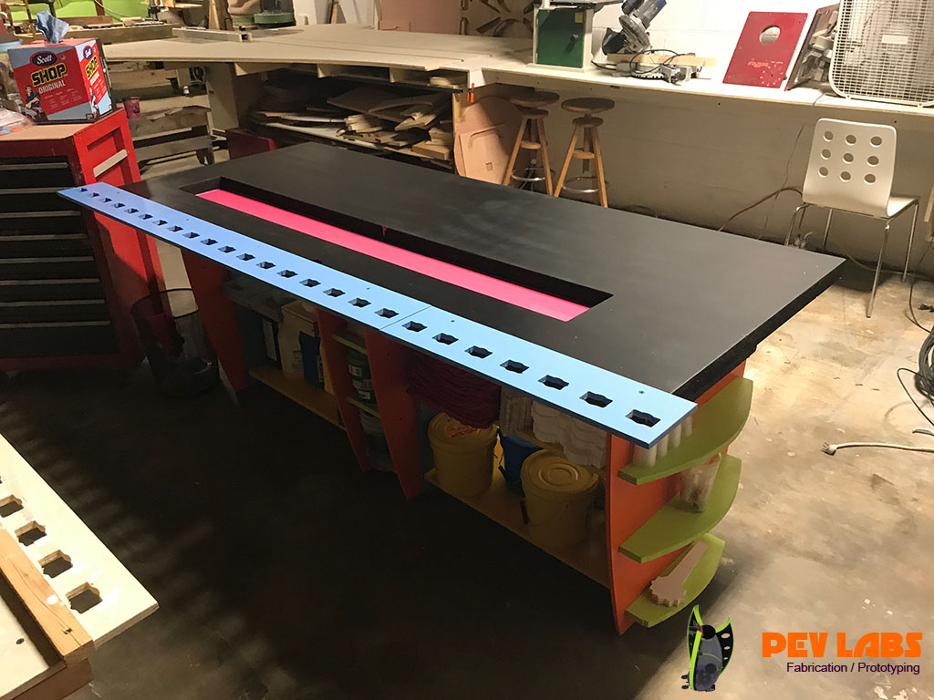 PEV Labs Silicon Mold Making and Resin Casting Production Table