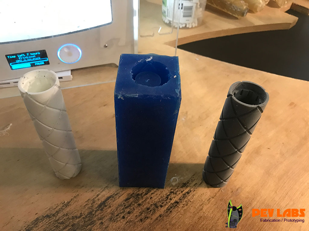 Rubber Mold Making from 3D Printed Masters