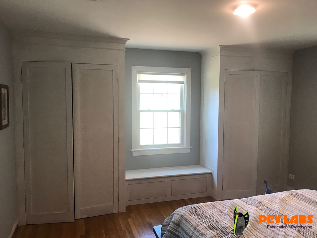 Custom Cabinetry Closets and Window Seat Charlottesville