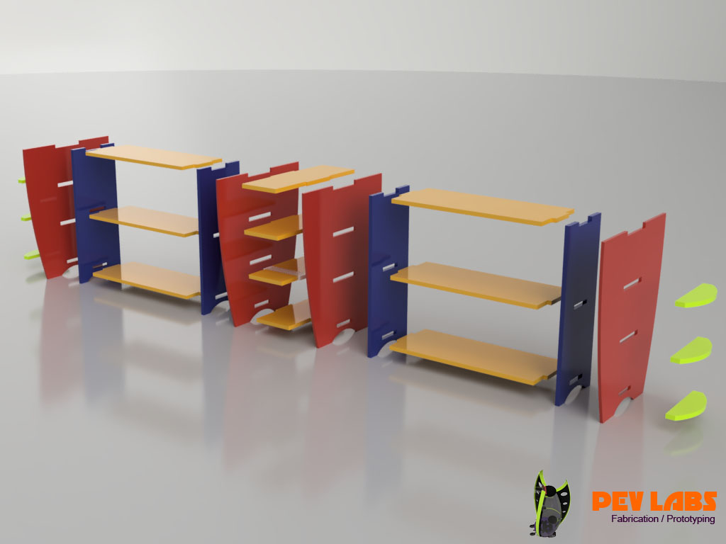 More About Flat-Pack Shelving and Digital Fabrication Services