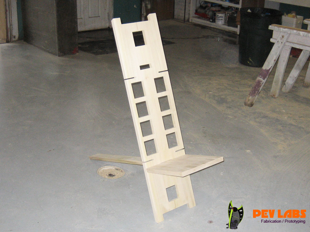 Flat-Pack Modern Wooden Watchman Chair
