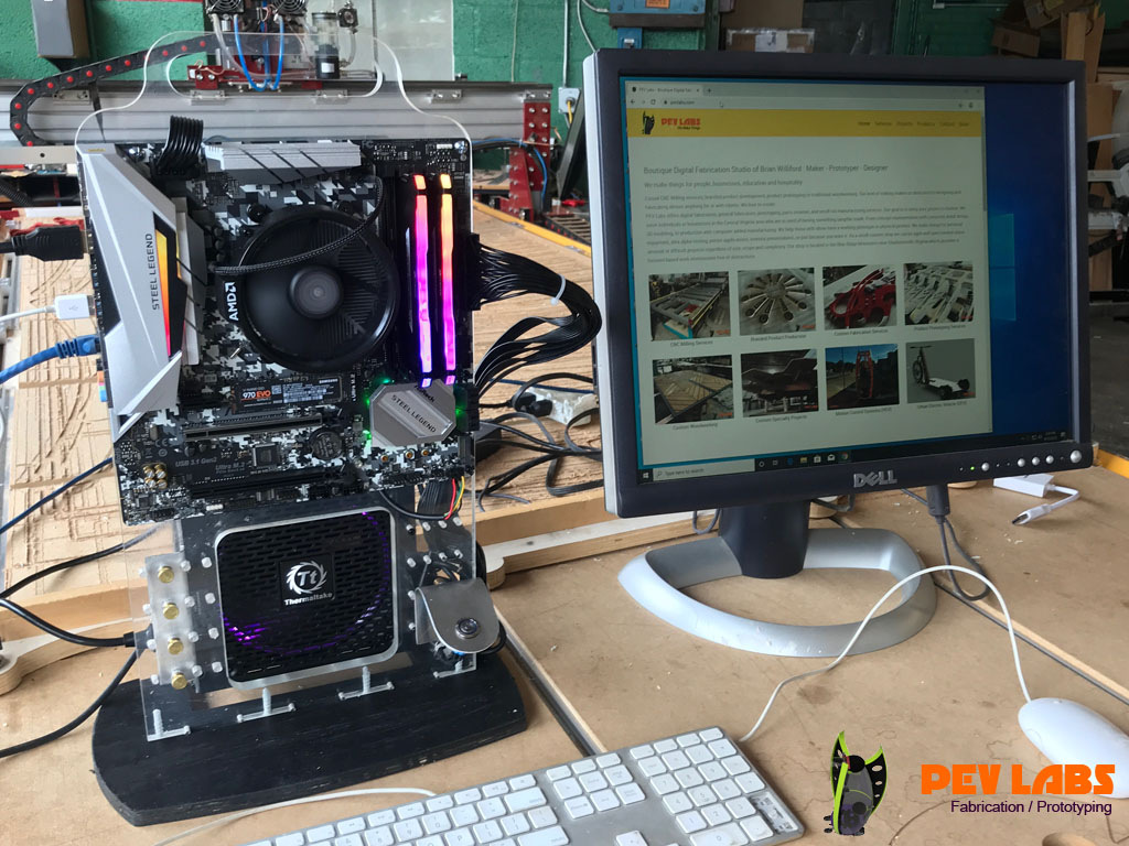 Milling Polycarbonate Scratch Tower for Custom Linux Machine