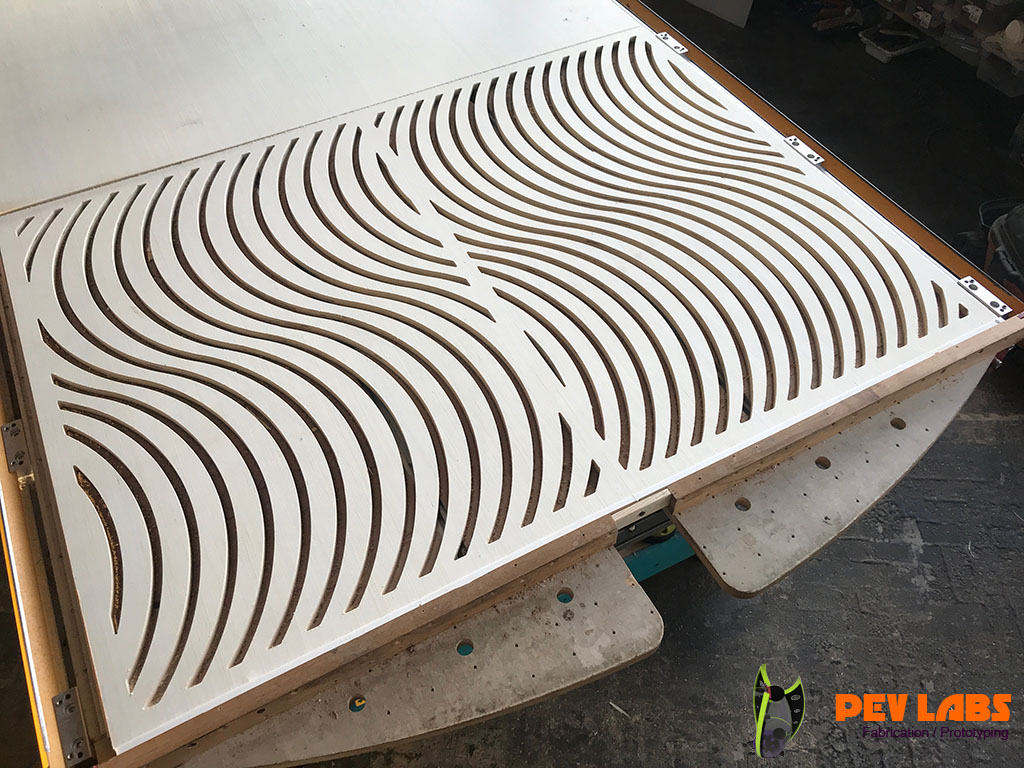 Milled Plywood for Artist