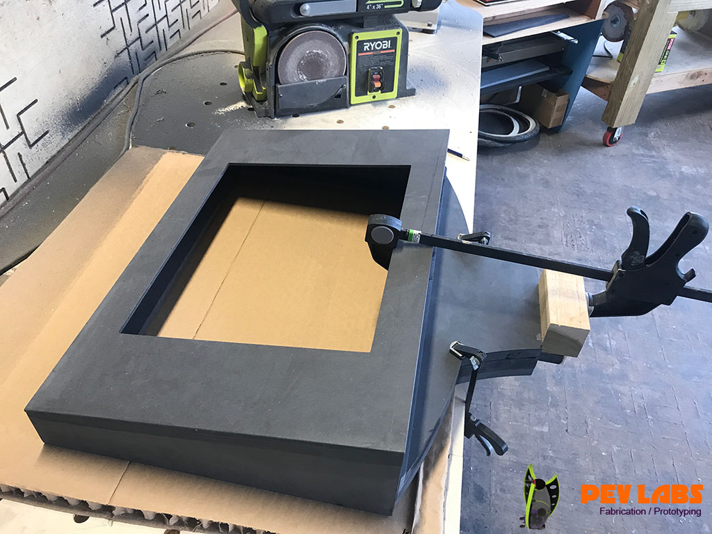Black ForesCOLOR MDF Monitor Housing
