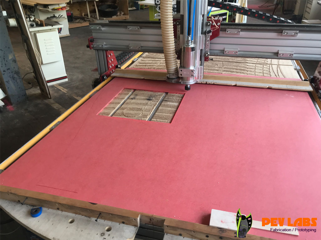 CNC Milling ForesCOLOR MDF