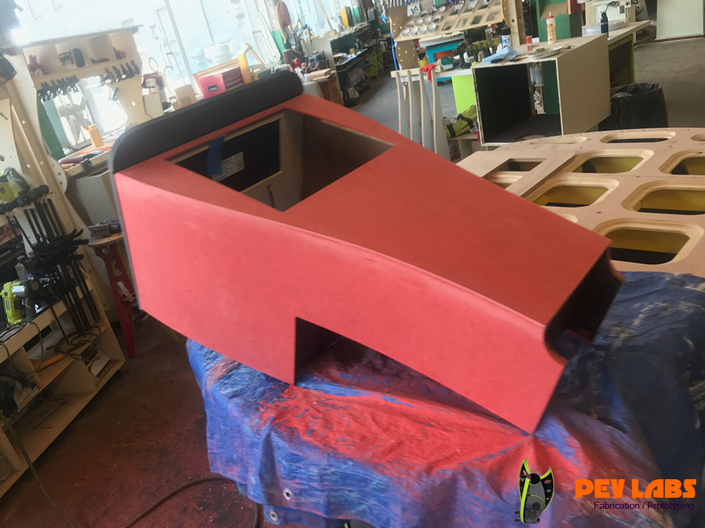 Color Core MDF Kiosk