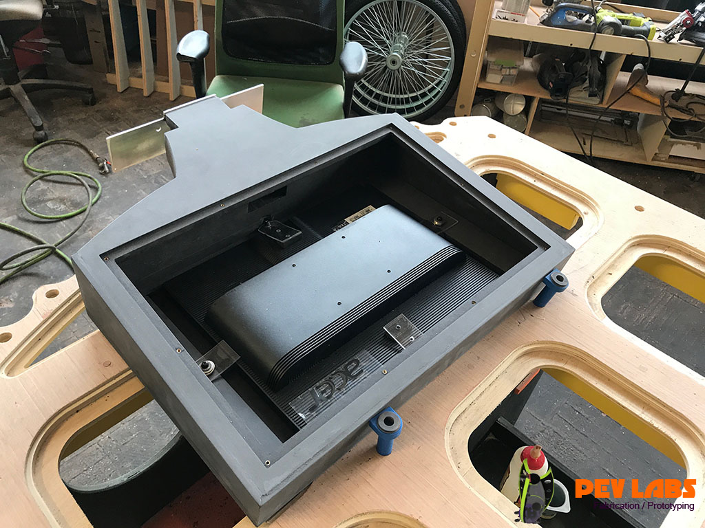 Installing Monitor Electronics in Kiosk