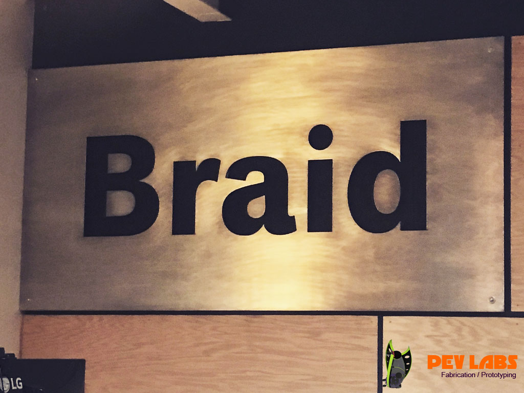 Full Sheet Aluminum Braid Sign