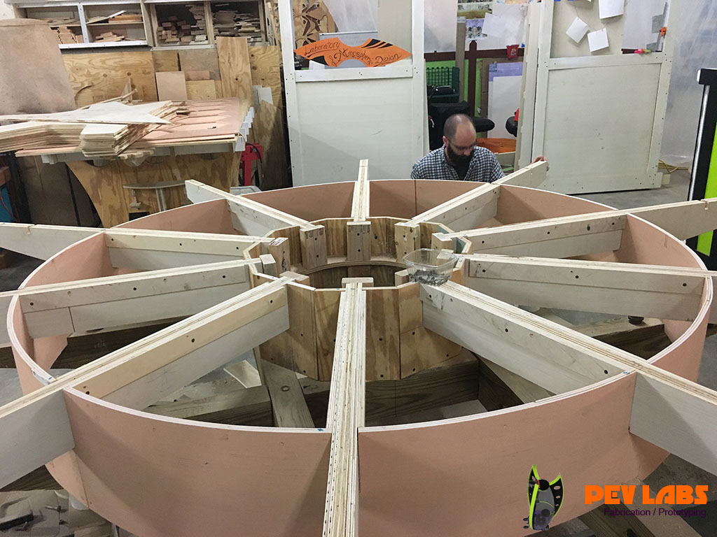 Framing for Large Gear Table